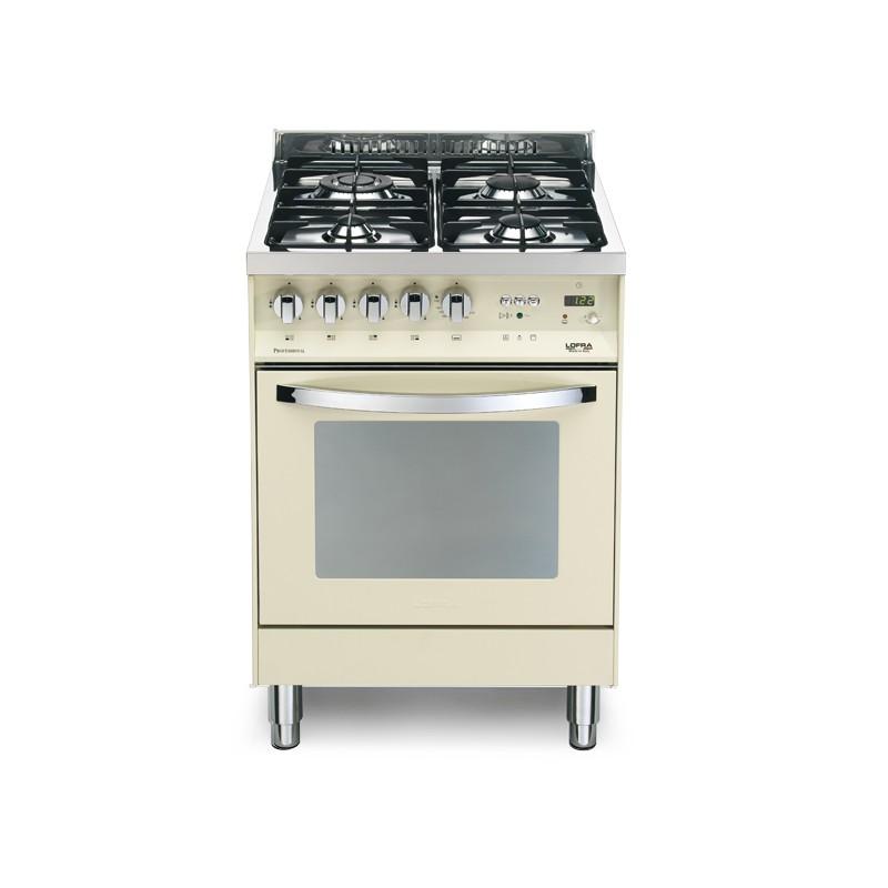 Lofra pbi66gvt c avorio 60x60 cucina colorata con piano in - Piano cucina acciaio ...