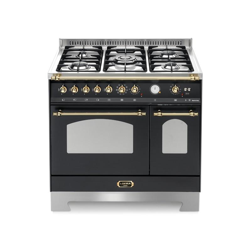 Lofra rnmd96mfte ci nero matt 90x60 cucina con piano in - Piano cucina acciaio ...