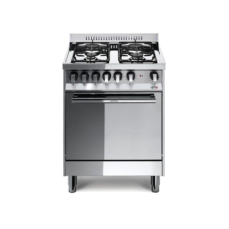 Lofra M65Mf 60X50 Cucina Con Piano In Acciaio Lucidato A