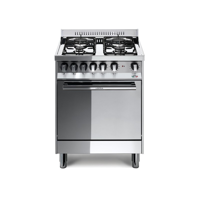 Lofra M65Gv 60X50 Cucina Con Piano In Acciaio Lucidato A