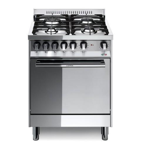 Lofra M66Mf/C 60X60 Cucina Con Piano In Acciaio Lucidato A