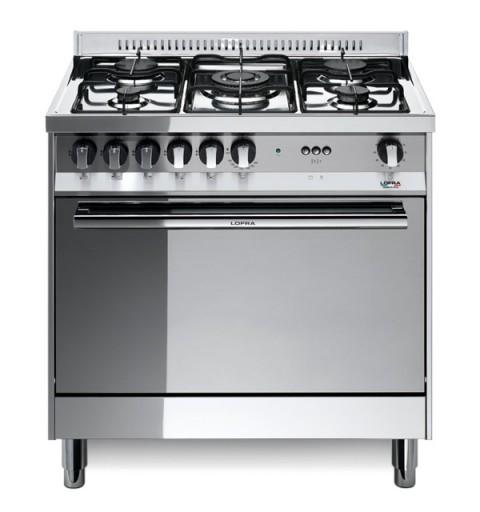 Lofra Mg85G/C 80X50 Cucina Con Piano In Acciaio Lucidato A