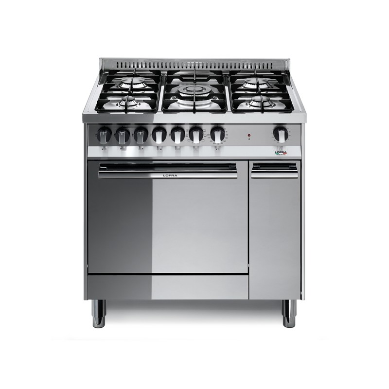 Lofra-MT86MF-C-cuisiniere-a-gaz-A-Acier-inoxydable-four-et