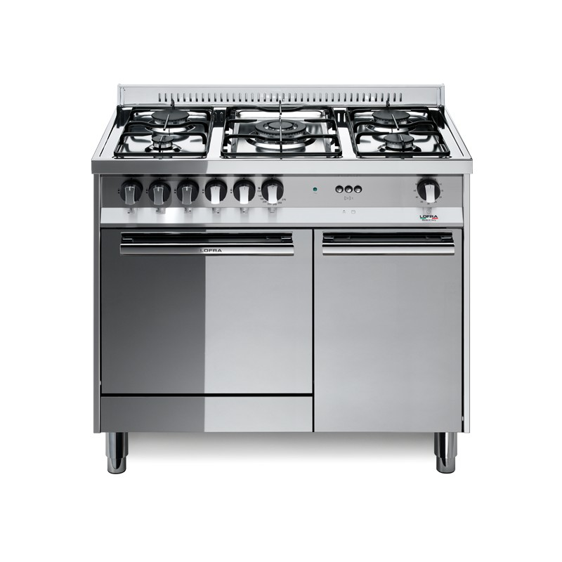 Dagimarket lofra m95g c 90x50 cucina con piano in acciaio lucidato a specchio 5 fuochi a gas - Cucina a gas da 90 ...