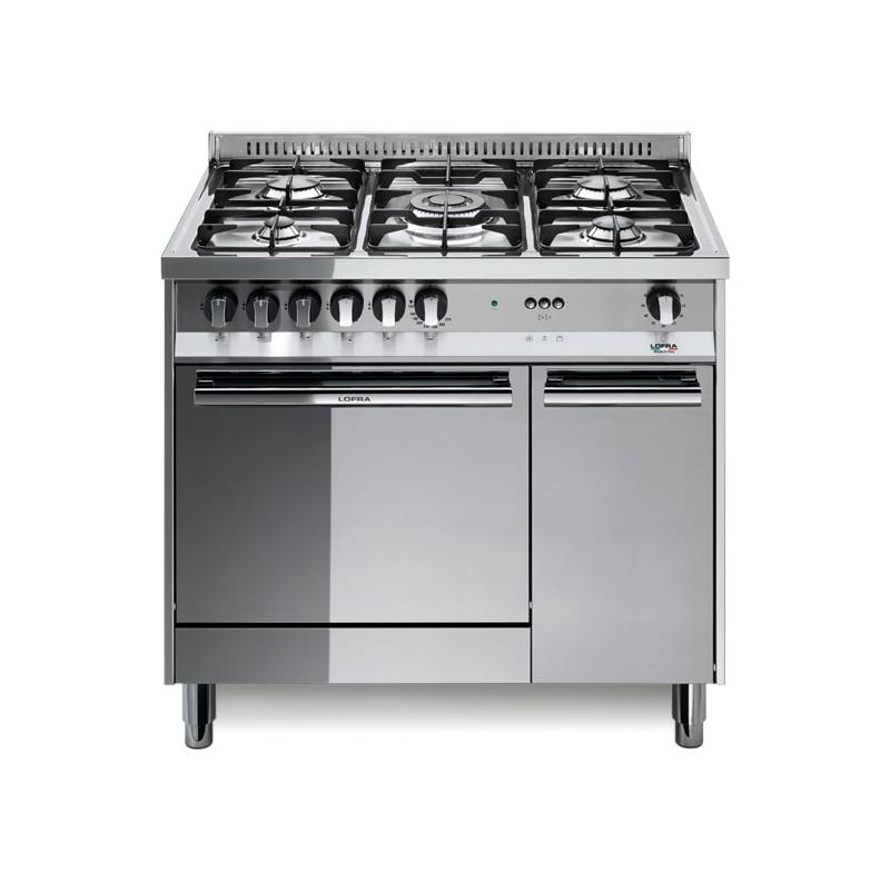 Lofra Mr96Mf/C 90X60 Cucina Con Piano In Acciaio Lucidato A
