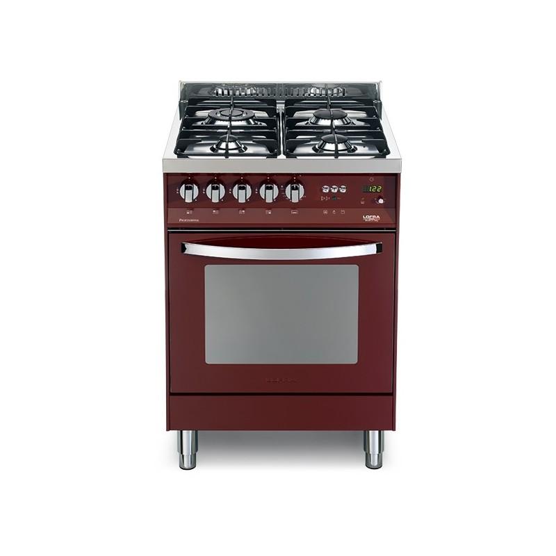 Lofra Pr66Gvt/C Rosso Burgundy 60X60 Cucina Colorata Con Piano