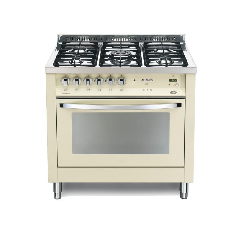 Dagimarket lofra con porta bombola ig 96mft c avorio 90x60 cucina colorata con piano in acciaio - Bombola gas cucina prezzo ...