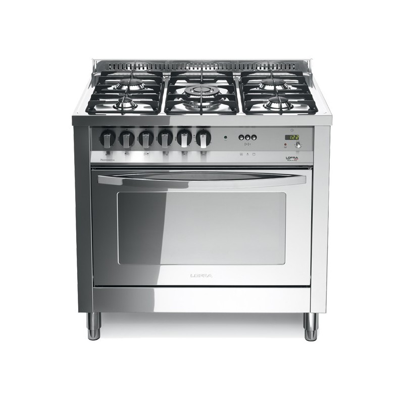 Lofra Plg96Mft/C Total Inox 90X60 Cucina Total Inox Con Piano