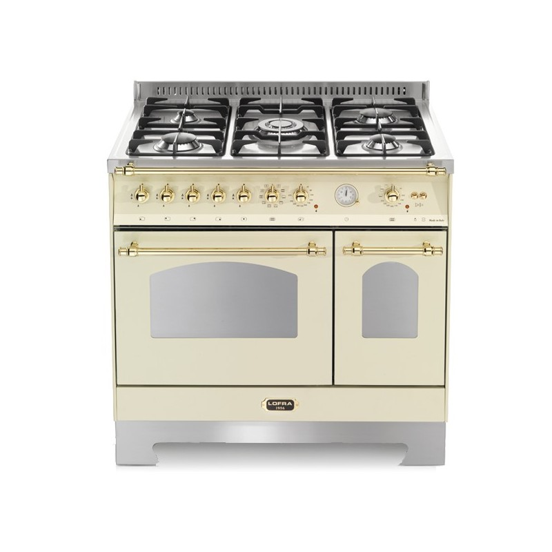 Lofra Rbid96Mfte/Ci Avorio 90X60 Cucina Con Piano In Acciaio
