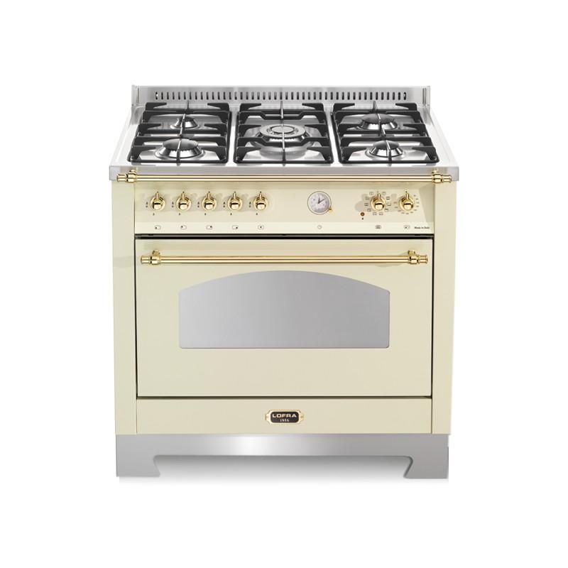 Dagimarket lofra rbig96mft ci avorio 90x60 cucina con piano in acciaio satinato 5 fuochi a gas - Cucina a gas 5 fuochi ...
