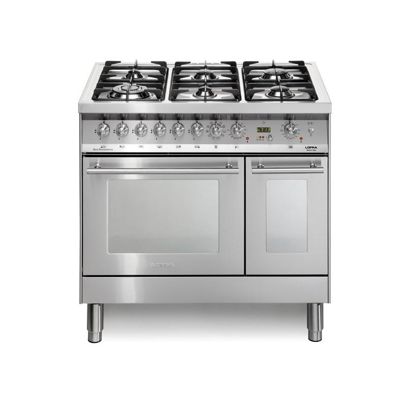 Lofra Pd96Mfte/Cisf 90X60 Cucina Con Piano In Acciaio Satinato