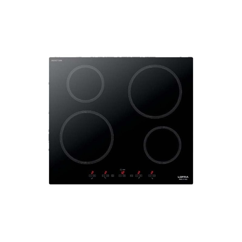 LOFRA HIN604 Luna 60 Induction PIANO A INDUZIONE 60CM - DUE ZONE MAX 2 KW CON BOOSTER - DUE ZONE MAX 1.6 KW CON BOOSTER - BLOCC