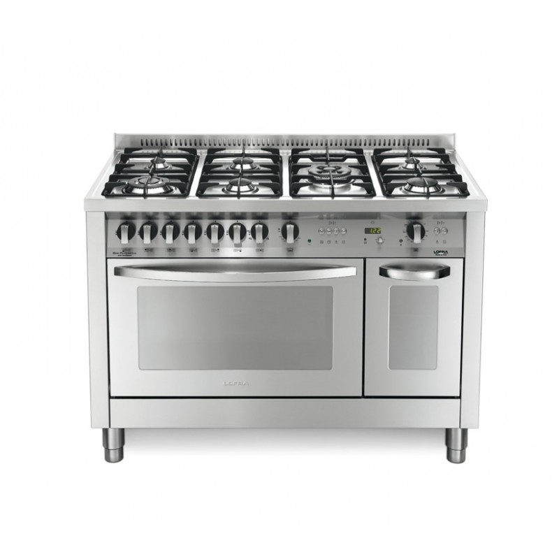 Lofra Pd126Gv+E /2Ci 120X60 Cucina Con Piano In Acciaio