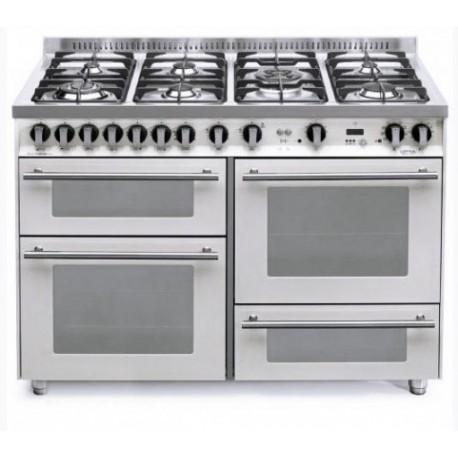 Dagimarket lofra con porta bombola p126smfe mf 2ci bianco perla 120x60 cucina con piano in - Bombola gas cucina prezzo ...