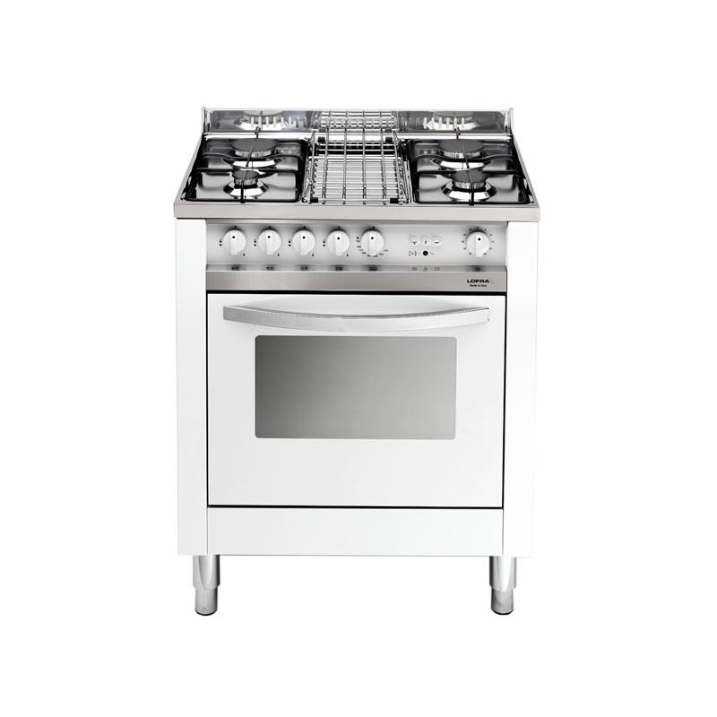 Cucina a Gas 4 Fuochi De Longhi con Forno Elettrico Ventilato 60x60 cm PRO66MA