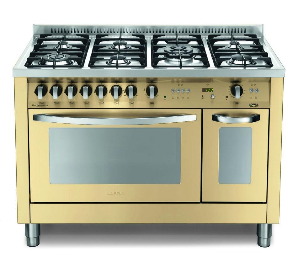 Lofra Pbid126gv e /2ci cucina colore Avorio 120x60 Piano in acciaio ...