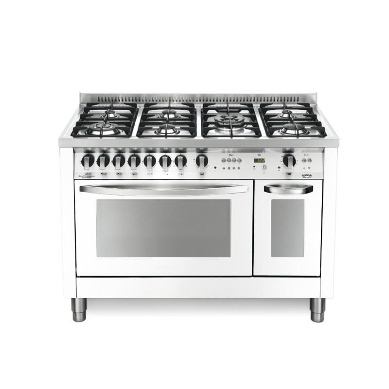 Dagimarket lofra con porta bombola pd126gv e 2ci bianco perla 120x60 cucina colorata con piano - Bombola gas cucina prezzo ...