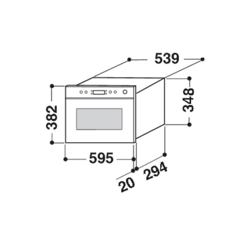 Dagimarket FORNO MICROONDE INCASSO WHIRLPOOL AMW 499/IX