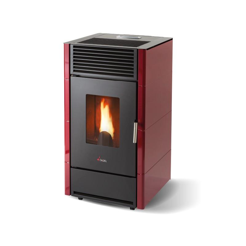 Dagimarket cadel cristal rosso stufa a pellet con potenza nominale max 7 kw volume riscald - Potenza stufe a pellet ...