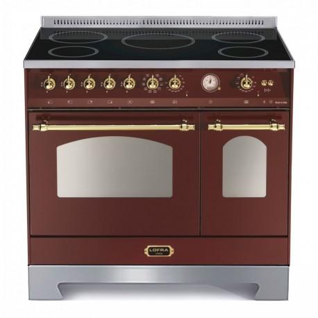 LOFRA RRD96MFTE/5I Rosso Burgundy 90X60 CUCINA CON PIANO INDUZIONE