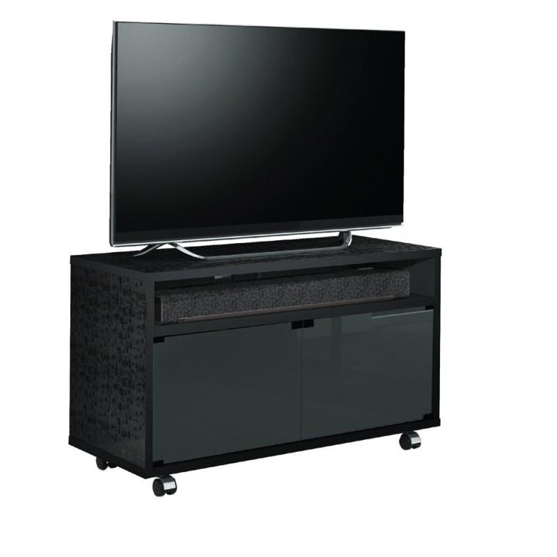 MUNARI MT110NE-NE MOBILE TV FINITURA OPACA/LUCIDA CON ANTA NERO MADE IN ITALY