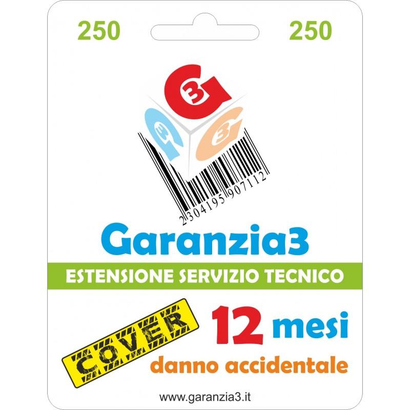 GARANZIA3 GECIT250 ESTENSIONE GARANZIA 3 ANNI PER DANNO ACCIDENTALE / MASSIMALE