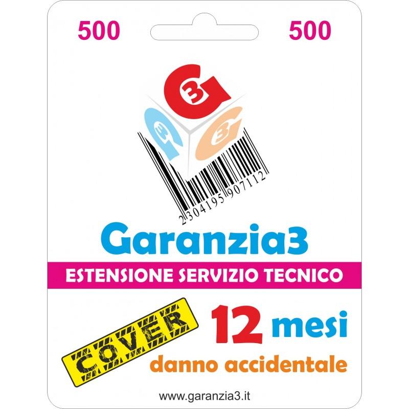 GARANZIA3 GECIT500 ESTENSIONE GARANZIA 3 ANNI PER DANNO ACCIDENTALE / MASSIMALE