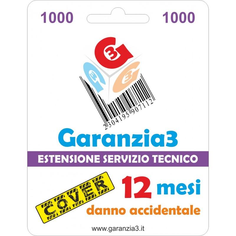 GARANZIA3 GECIT1000 ESTENSIONE GARANZIA 3 ANNI PER DANNO ACCIDENTALE / MASSIMALE