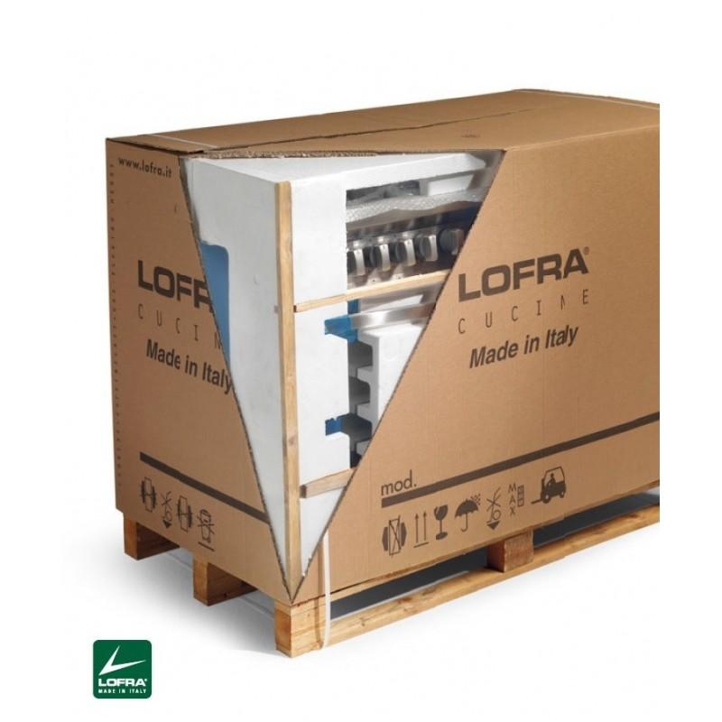 Lofra PBI126SMFET+DMFT/2AEO Avorio 120X60 Cucina Con Piano In Acciaio Satinato - 7 Fuochi A Gas - 3 Forni