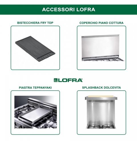 Lofra Pbi126Smfe+Mf/2Ci Avorio 120X60 Cucina Con Piano In