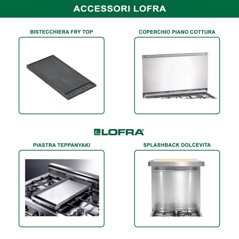Lofra Rbi66Mft/Ci Avorio 60X60 Cucina Con Piano In Acciaio