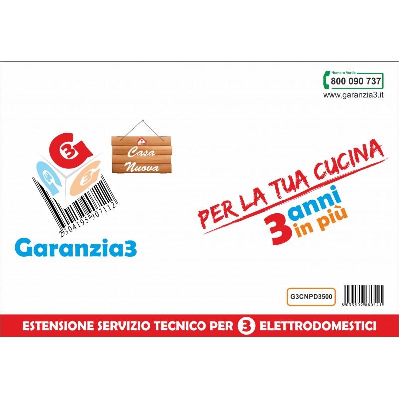 GARANZIA3 G3CNPD3500 ESTENSIONE GARANZIA 3 ANNI PER 3 ELETTRODOMESTICI