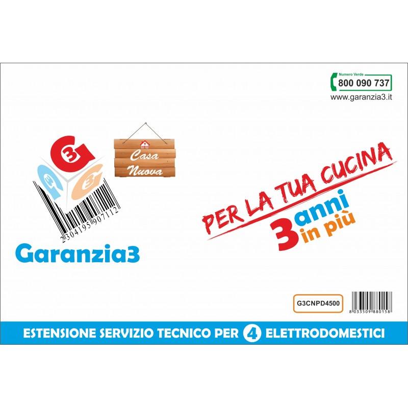 GARANZIA3 G3CNPD3500 ESTENSIONE GARANZIA 3 ANNI PER 4 ELETTRODOMESTICI